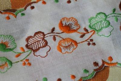 画像1: フランス・レトロ 刺繍リボン