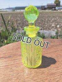 フランス直輸入 アンティーク ウランガラスの香水瓶