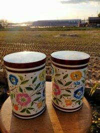 ベルギーブロカント チョコメーカーDERMATのポップな花柄ティン缶 コンテナ